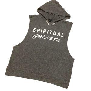 Spiritual Gangsta sleeveless hooded shirt L
